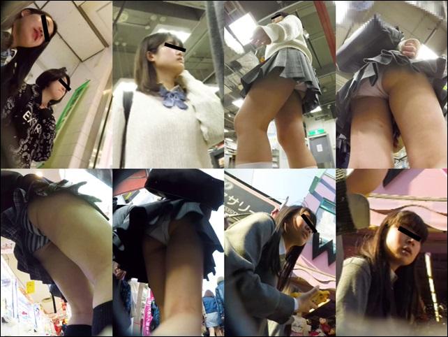 ミミックさんの顔出し制服女子 原宿パンチラ Vol05