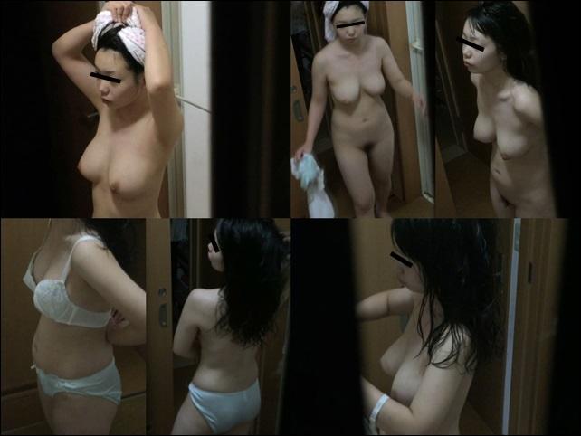 民家風呂覗き リアルインパクト 色白ムッチリボディの女子大生風女性のリアルな入浴事情
